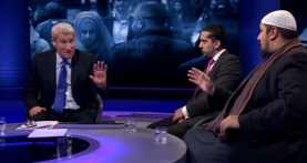 Mo Ansar, Mehdi Hasan and Jeremy Paxman, BBC Newsnight
